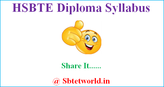 HSBTE Syllabus, HSBTE new and old diploma Syllabus, HSBTE revised Syllabus,