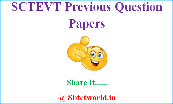 SCTEVT Previous Question Papers, SCTEVT Diploma model Question Papers, Odisha DTE Previous Question Papers