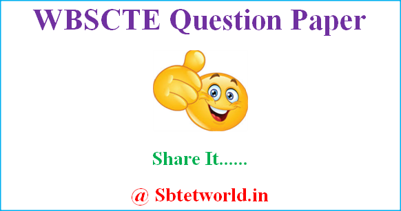 WBSCTE Previous Question Papers, WBSCTE Question Papers, WBSCTE model Questions Papers