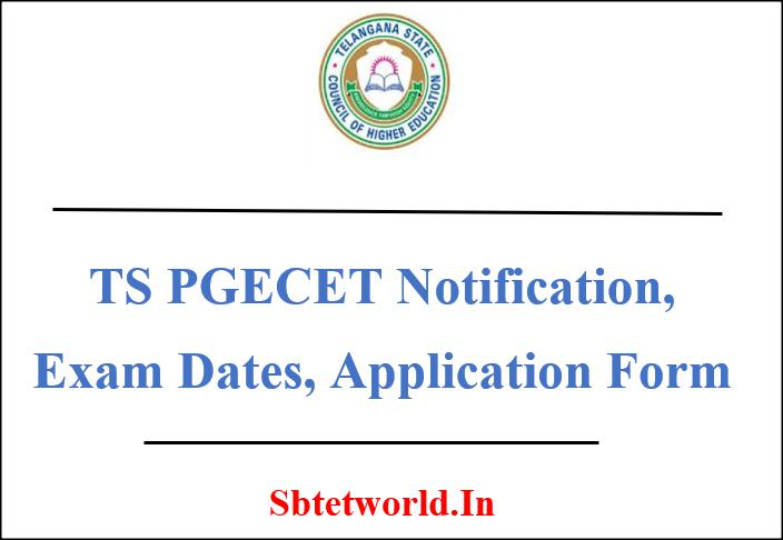TS PGECET, TS PGECET 2019 Notification, TS PGECET Application form, TS PGECET exam dates, TS PGECET syllabys, TS PGECET exam pattern