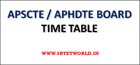 APSCTE-DIPLOMA-TIME-TABLE, APSCTE-TIME-TABLE