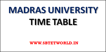 Madras-university-time-table