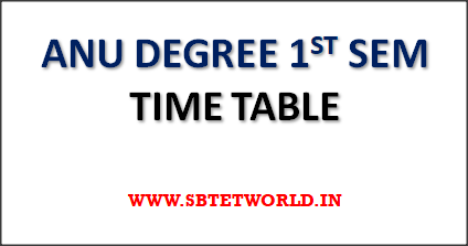 ANU-Degree-1st-Time-Table
