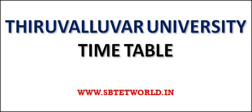 THIRUVALLUVAR-UNIVERSITY-Time-Table