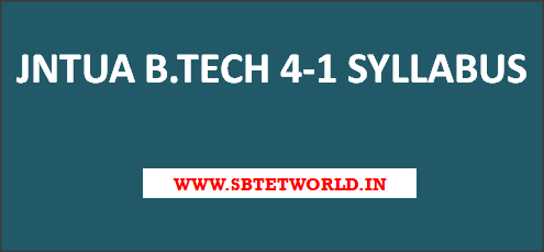 JNTUA-B-tech-4-1-syllabus